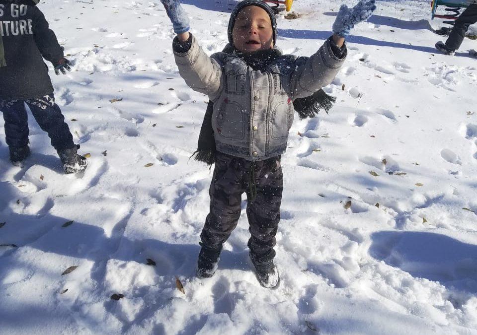 Первый снег.